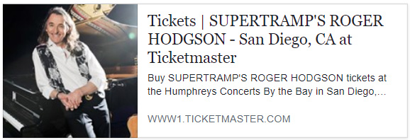 RogerHodgson com - News